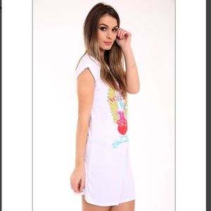 Dresses & Skirts - Rock Star Guitar T-Shirt Dress 🌟 - White